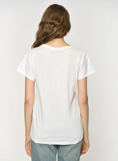 Loves You Ananas Payetli Tişört Beyaz